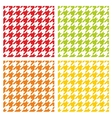 Houndstooth tile pattern or background set vector image