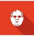 Man head in glasses icon vector image