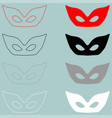 mask or guise red black white icon mask or vector image