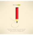 Red pencil drawing a circle line Artwork concept vector image