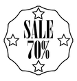 Sticker 70 percent off icon outline style vector image