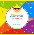 summer sale template banner in vector image