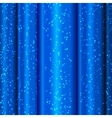 Blue satin waves with tinsel vector image