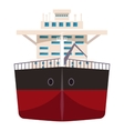 Ship with oil icon cartoon style vector image
