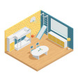 children room composition vector image