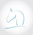 Sign horse vector image