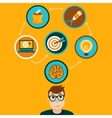 idea concept in flat style vector image vector image