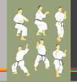Set of images of karate vector image