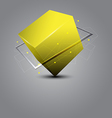 abstract cube science concept vector image
