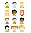 avatar children set vector image vector image