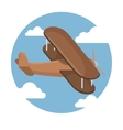 airplane fly icon vector image