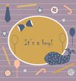 baby boy birth announcement baby shower vector image