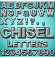 Chiseled Letters vector image