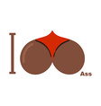 I love ass Afro Americans Symbol of heart of vector image
