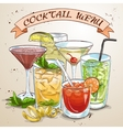 New Era Drinks Coctail menu vector image