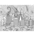 new york city skyline vector image