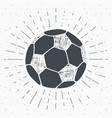 vintage label hand drawn football soccer ball vector image