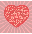 Heart and footprints vector image