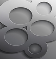 Round 3d steel frame cut vector image