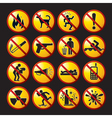 funny prohibited icons and buttons vector image vector image
