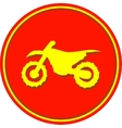 Motorcycle sport sign vector image