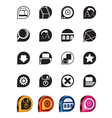 simple internet and website icons vector image