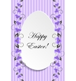 Happy Easter Vintage style Easter greeting card vector image