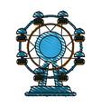 fair wheel vector image