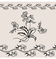 flower floral seamless banner vector image