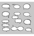 Hand-drawn speech bubbles sketchy doodle vector image