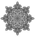 Indian ethnic round ornament Mandala Hand drawn vector image