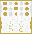 matte gold and silver line and silhouette emblems vector image
