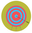 Right in bullseye Arrow target icon flat vector image