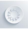 sun circle icon Eps10 vector image
