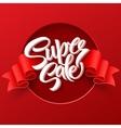 Super Sale lettering with sale labels vector image