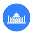 Taj Mahal icon in black style isolated on white vector image
