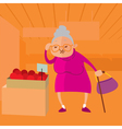 woman choosing fruits vector image