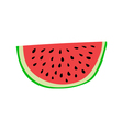 Watermelon slice Cartoon style vector image