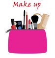 make up bag vector image