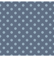 Tile blue pattern with polka dots vector image vector image