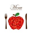 menu vegetarian food design vector image