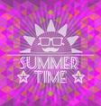Abstract purple summer time infographic a big sun vector image