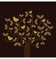 cute birds on a tree vector image