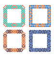 Frames set abstract squares vector image