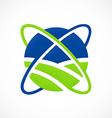 globe orbit abstract communication logo vector image