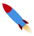 isolated missile icon vector image