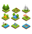 isometric traveling camping collection vector image