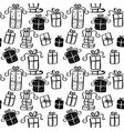 seamless pattern of a christmas vector image