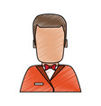 waiter faceless cartoon vector image