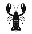 Crawfish icon simple style vector image